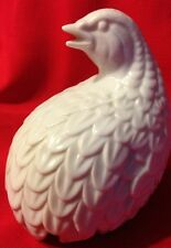 Vintage Porcelain White Bird Quail  PARTRIDGE BIRD Figurine Figure Statue*