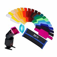 Selens SE-CG20 FLash Speedlight Color Gels Filter With Band Grip For Canon Nikon