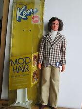 Vintage 1972 Barbie Ken Mattel Mod Hair Unbespielt mit Originalkarton RAR!