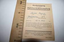 % CERTIFICADO DE VACUNACIÓN CONTRA LA DIFTERIA, ALEMANIA NAZI, 1942 VER FOTOS
