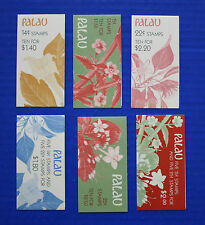 Palau - 1987-1988 Indigenous Flowers MNH booklet set