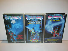 "VISIONARIES ""KNIGHTS OF THE MAGICAL LIGHT"" 3X VHS CASSETTES 1980s"