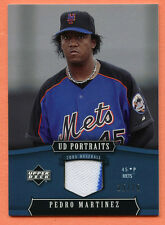 Pedro Martinez GU 2005 UD Portraits BLUE Parallel GameUsed Jersey Relic SP 25/25