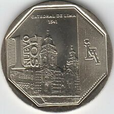 "Peru 1 Nuevo Sol 2014 ""Wealth and Pride of Peru"" Lima Cathedral Uncirculated"