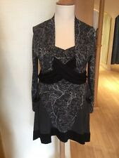 Ronen Chen Dress Size 16 BNWT Grey Black RRP £126 Now £35