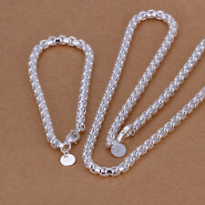 Wholesale 925 Sterling Silver Bracelet&Necklace Sets ZBS058
