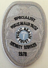 """NEW- Cloth Emblem""""SPECIALIST-PUBLIC HEALTH TRUST-SECURITY SERVICES """" 2 for 1"""