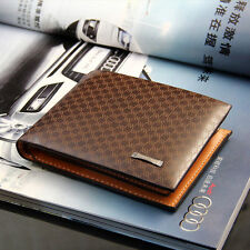 Stylish Men's Soft Leather Bifold Wallet with Card Holder Coin Pocket