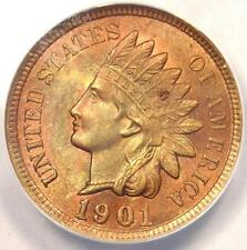 1901 Indian Cent Penny 1C - Certified Anacs Ms60 Details (Unc) - Rare Coin!