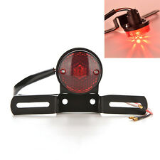 Red Lens Motorcycle Brake Rear License Plate Bracket Tail Light Universal WFCA