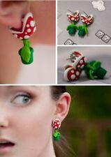 ORECCHINI SUPER MARIO BROS CLIP EARRINGS COSPLAY PIANTA CARNIVORA PIRANHA PLANT