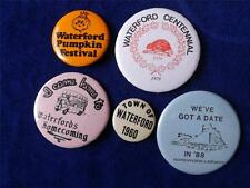 WATERFORD ONTARIO CANADA 1960 PUMPKIN FEST 1978 CENTENNIAL HOMECOMING BUTTON LOT