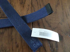 MILITARY ISSUE BLUE WEB BELT BLACK TIP NAVY OR AIR FORCE TROUSER BELT