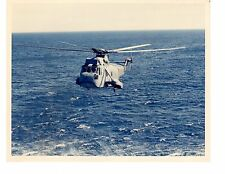 Sikorsky SH3H Sea King HS4 Navy Helicopter Photograph 8x10 USS Vinson CVN70