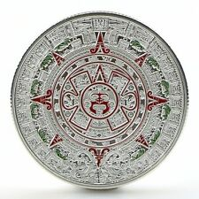 Silver Plated Mayan Aztec Prophecy Calendar Commemorative Coin Collection Gift