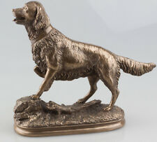 Debout Golden Retriever Chien sur Point Sculpture Statue Bronze Ornement NEUF