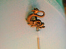 Antique Wm LINK Sterling GRIFFIN STICKPIN /RUBY EYE DRAGON Gold Wash Stick Pin