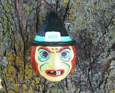 Cody Foster Halloween Small Neon Witch Jack O'lantern Paper Mache New
