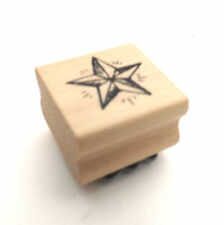 EAST OF INDIA STAR RUBBER STAMP CHRISTMAS, CRAFT, GIFTS WRAP, CARD MAKING