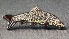 Metal Enamel Pin Badge Brooch Fish Barbel Fishing Angler Angling