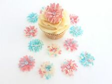 14 Catherine Collection 3D Flores Comestibles Pre Corte Oblea Cupcake Toppers