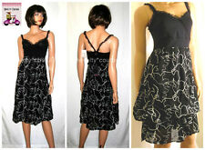 New SAVE THE QUEEN Cocktail Party Summer Black Dress T40-42/L (large) #Italy