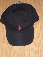 Polo Ralph Lauren Adjustable Strap Pony Logo Baseball Hat One Size 2015  Black a814815c31c6