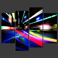 MOVING LIGHTS CANVAS WALL ART PICTURES PRINTS DECOR LARGER SIZES AVAILABLE