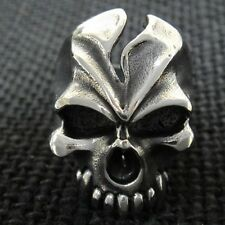 316L Crazy Outlaw Fire SKULL Ring for Support Nomads Angel Harley Motor Biker 89
