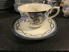 Queen's China Historic Royal Palaces Cup & Saucer  Blue & White
