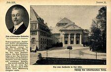 Das neue Kurtheater in Bad Elster Historische Aufnahme von 1914
