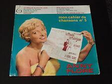 33 TOURS 25 cm - ANNY FLORE - MON CAHIER DE CHANSON N° 5 - 1960