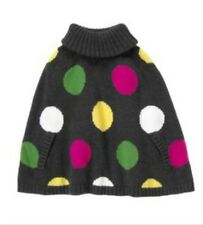 NWT Gymboree Merry and Bright Polka Dots Sweater Cape Capelet Poncho S(5-6)
