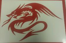 Chinese Dragon Tribal - Red - revs-  Vinyl Cut Decal sticker, Wall Art
