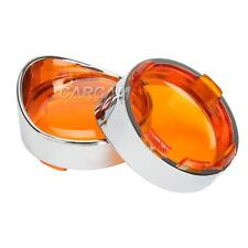Turn Signal Bezels Amber Lens F Harley Fat Boy Night Train Cross Bones Night Rod