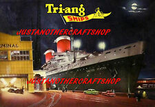Triang Minic Ships SS United States Poster Leaflet Advert Shop Display Sign