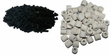 Aquarium Activated Carbon filter 500+500 gm ceramic rings  media