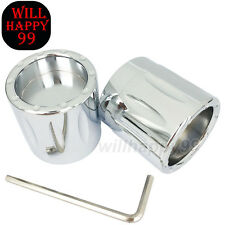 Chrome Pair Edge Cut Front Axle Nut Covers For Harley Electra Glide Fatboy 08-17