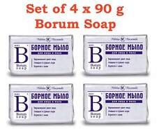 Set of 4 x 90g Borum Soap with Boric Acid - Use for Problem Skin Acne Irritation