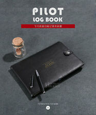 Protect Case for Pilot's Log Book, Black, PU Leather Cover Aviator Record Book