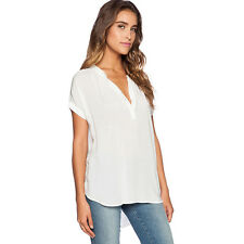 Summer Plus Size Womens Ladies V Neck Chiffon Tops Loose Casual T Shirts Blouse