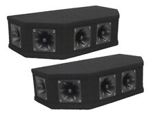 2 x Soundlab TWEETER Array 50W NERO piezoelettrici Top Box Altoparlante Dj Discoteca