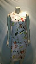 $118 CATHERINE MALANDRINO FLORAL STRETCH PENCIL DRESS XS