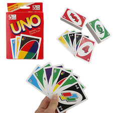 Standard Fun 108 UNO Playing Cards Game For Family Friend Travel Instruction NEW