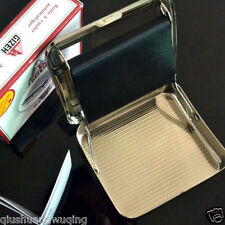 New 70mm Gizeh Automatic SILVER tabacco Cigarette Rolling maker machine box