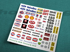 Scalextric/Slot Car 1/32 Scale Waterslide Decals. ws024