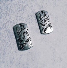 Word Charms Quote Charms Find Joy in The Journey Antiqued Silver Inspirational