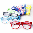 Clear Lens Wayfarer Style Nerd Geek Retro Hipster Glasses Fancy Dress Rave Party