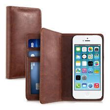 kwmobile Wallet Schutz Hülle für Apple Iphone Se 5 5S Braun Kunstleder Tasche