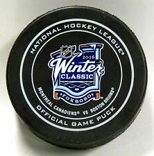2016 WINTER CLASSIC FOXBORO MONTREAL CANADIENS BOSTON BRUINS GAME PUCK! US00558